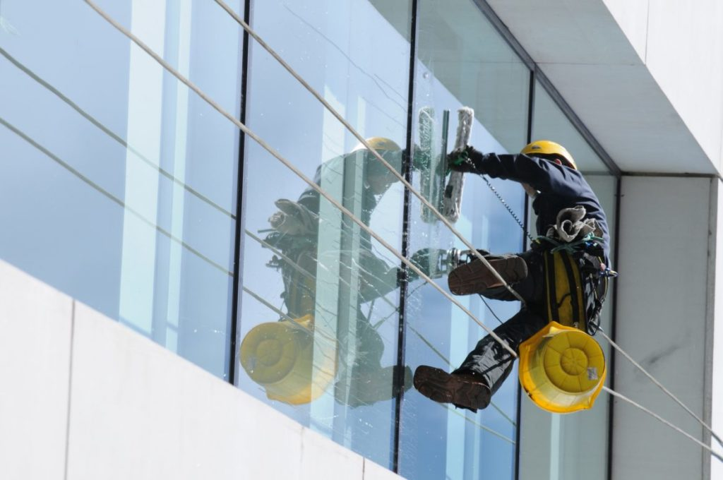 Tall Window Cleaning